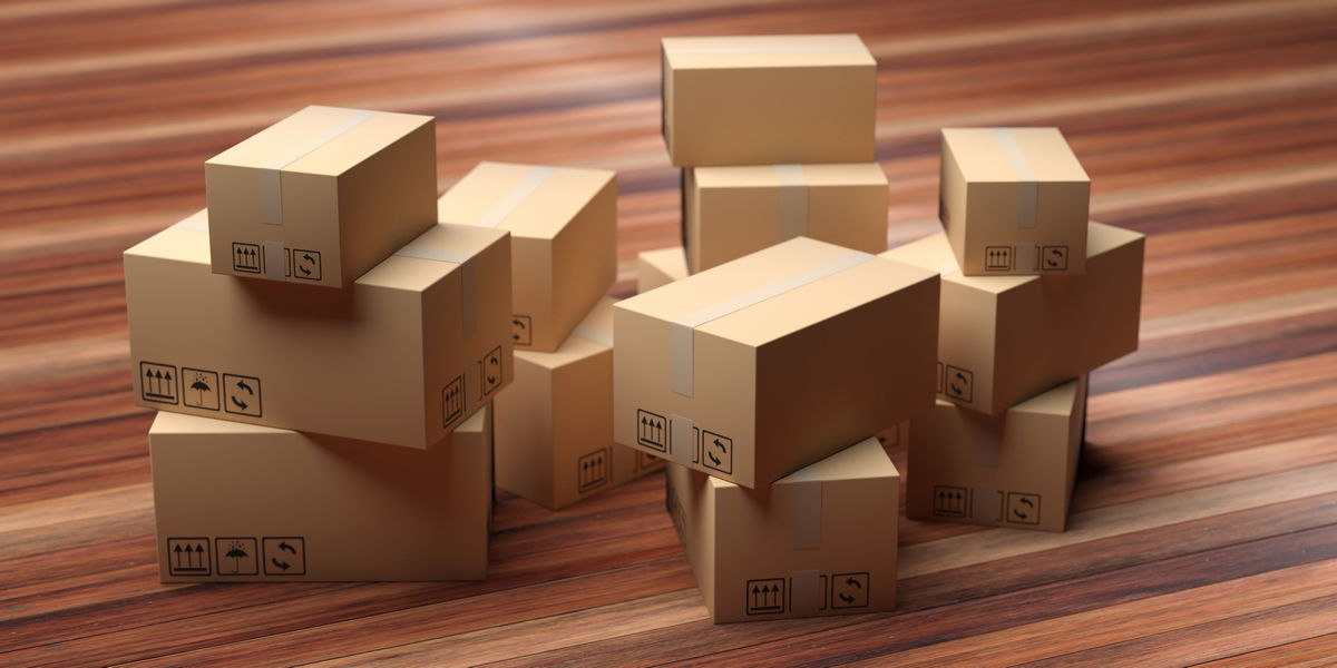 moving companies Types Of Moving Companies cardboard packages stack on wood floor 3d 2PLRXUN